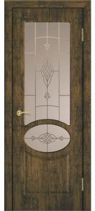 Дверь Алина ПВХ Остекленная