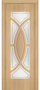 Дверь Камея ПВХ Остекленная