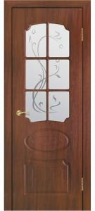 Дверь Ламия ПВХ Остекленная