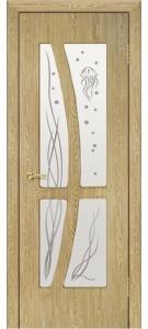 Дверь Медуза ПВХ Остекленная