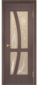 Дверь Медуза Ультрашпон Остекленная