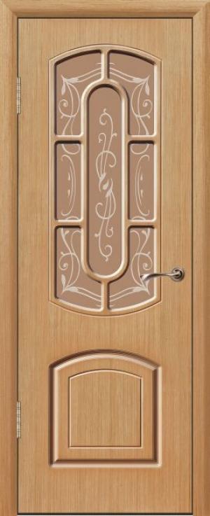 Дверь шпонированная Элегант Остекленная