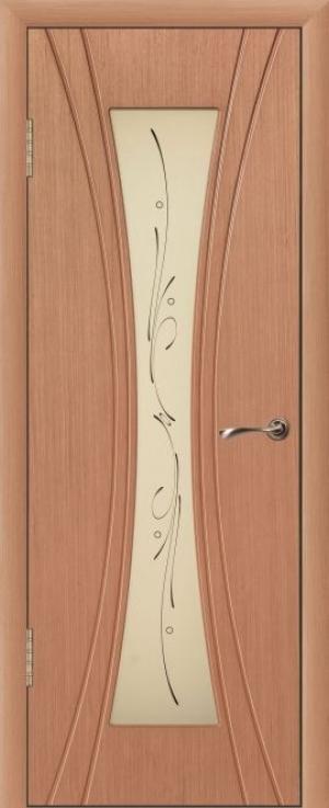 Дверь шпонированная Эстет Остекленная