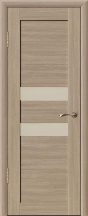 Дверь эко-шпон Квадро 2Б Остекленная