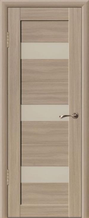 Дверь эко-шпон Квадро 3В Остекленная