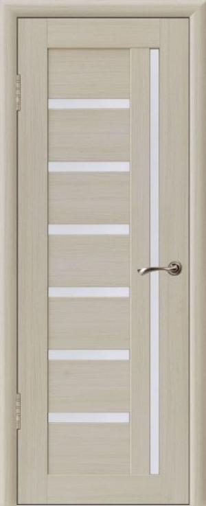 Дверь эко-шпон Квадро 7 Остекленная