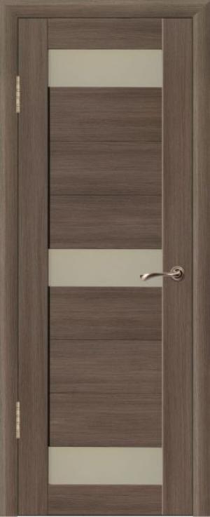 Дверь эко-шпон Квадро 3Н Остекленная