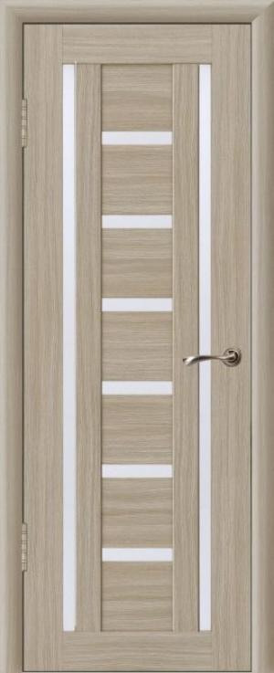 Дверь эко-шпон Квадро 8 Остекленная