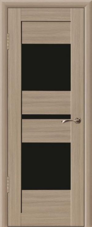 Дверь эко-шпон Макс 3 Черное стекло