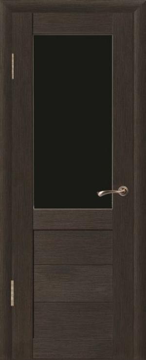 Дверь эко-шпон Макс 1 Черное стекло