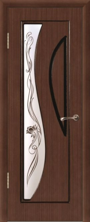 Дверь шпонированная Стелла Остекленная