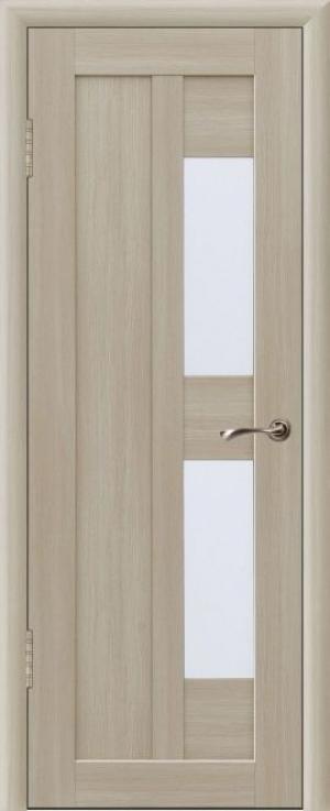 Дверь эко-шпон Вертикаль 3 Остекленная